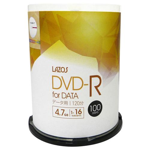 5個セット Lazos データ用 DVD-R 100枚組 L-DD100PX5