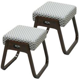 後藤 木製スツール「座・楽椅子」 2脚組 870247