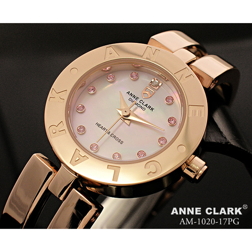 ANNE CLARK ハート&クロス レディースウォッチ AM1020-17PG
