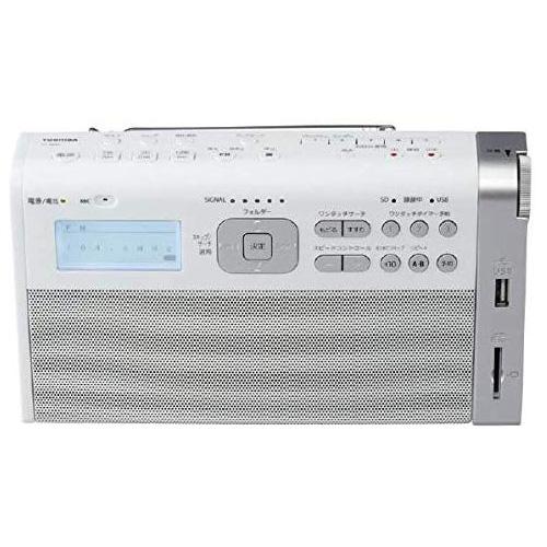 ラジオ ワイドFM/AMラジオ内蔵マイク 学習機能搭載 ホワイト 東芝 TY-RHR1