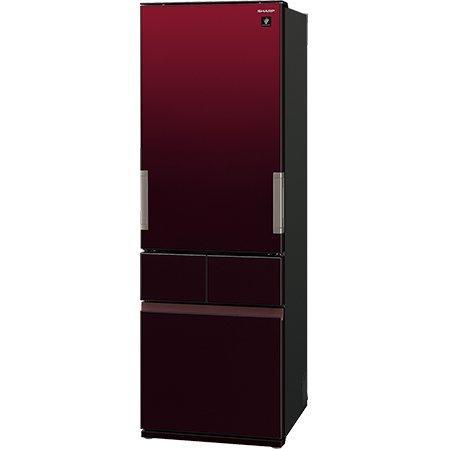 冷蔵庫 4ドア プラズマクラスター どっちもドア グラデーションレッド シャープ SJ-GT42E