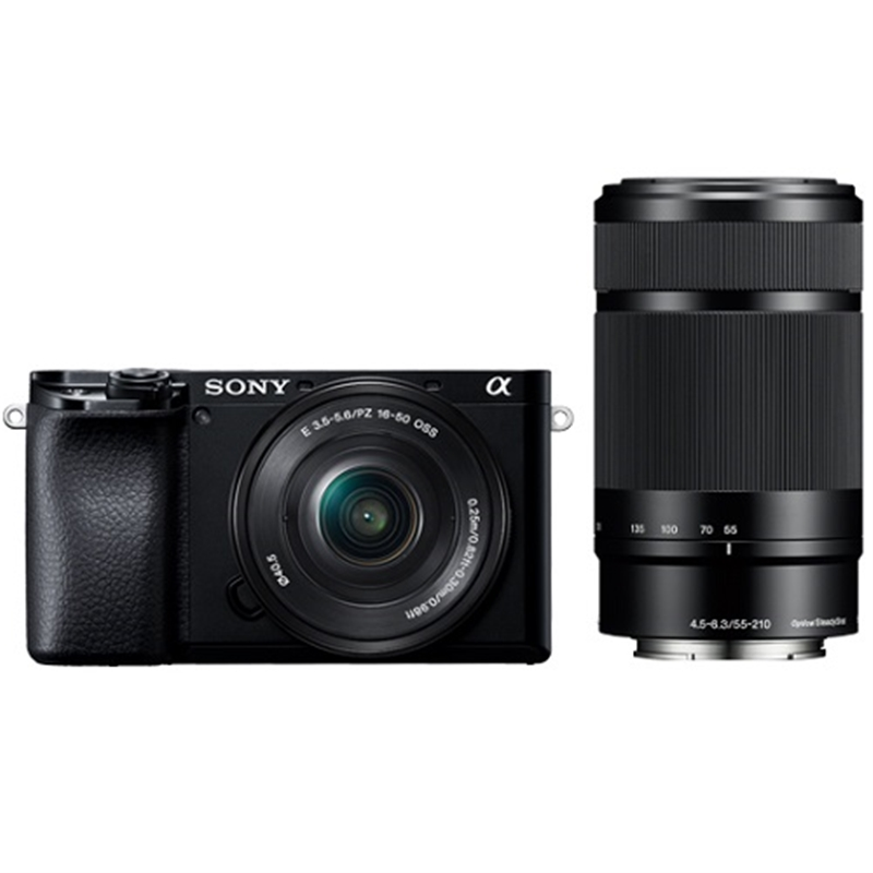小型一眼カメラ 2本レンズキット(電動ズーム+望遠) ブラック ソニー ILCE-6100Y