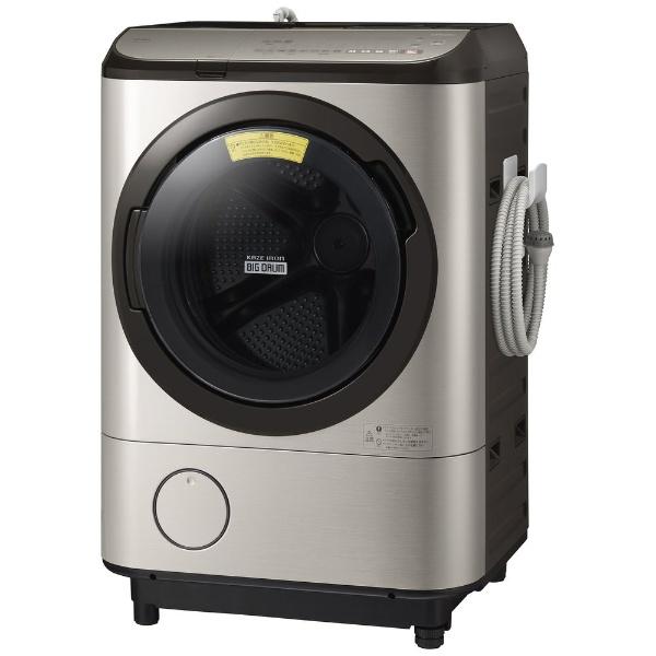 ドラム式洗濯乾燥機 ステンレスシャンパン 左開き 洗濯/乾燥容量:12.0/6.0kg 日立 BD-NX120EL
