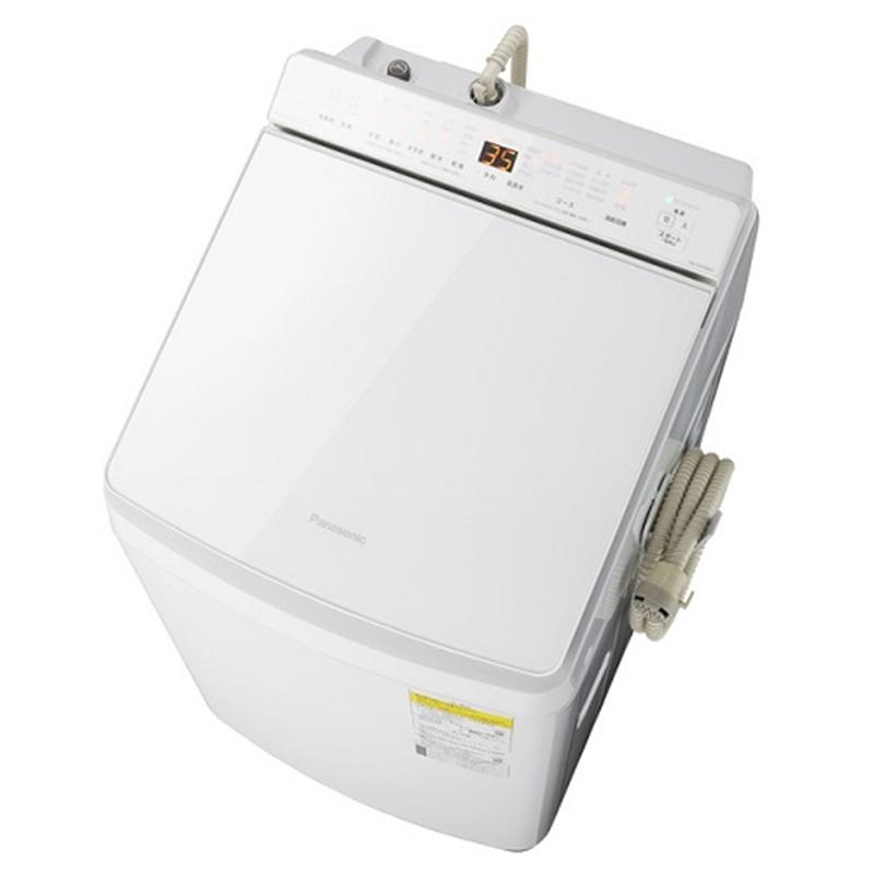 タテ型洗濯乾燥機 ホワイト 洗濯/乾燥容量:10.0/5.0kg「液体洗剤・柔軟剤 自動投入」機能を搭載した縦型洗濯乾燥機(洗濯10kg/乾燥5kgモデル) パナソニック NA-FW100K7