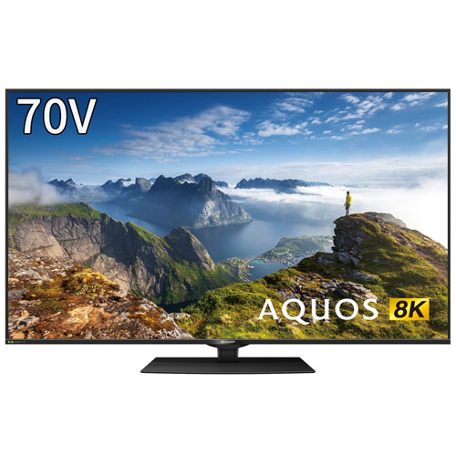 8K対応AQUOS 70V型 地上・BS・110度CSデジタル 4Kチューナー内蔵テレビ (別売USB HDD録画対応) シャープ 8T-C70BW1