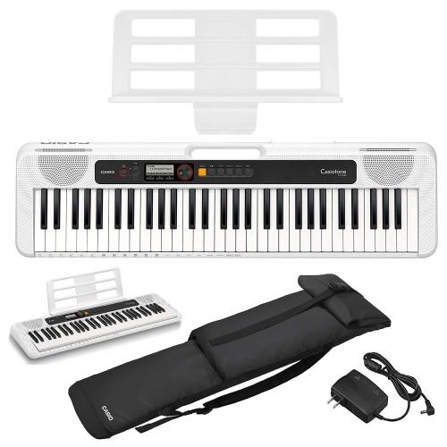 CASIO(カシオ) 61鍵盤 ベーシックキーボード CT-S200-WH 純正ソフトケースセット SC-650B