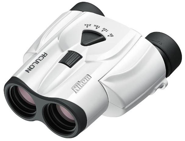 双眼鏡 アキュロン 8~24倍 ホワイト Nikon ACT11 ACT11 8-24x25 W