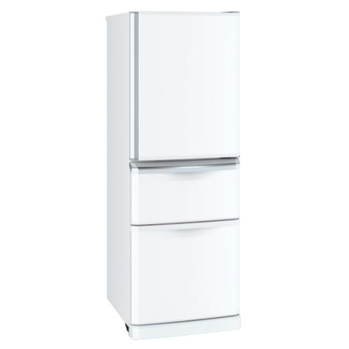 ノンフロン冷蔵庫 右開き 3ドア 335L パールホワイト 三菱 MR-C34E