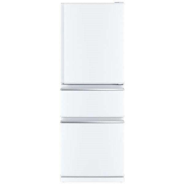 ノンフロン冷蔵庫 右開き 3ドア 330L パールホワイト 三菱 MR-CX33E