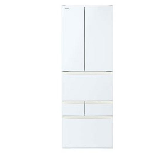冷蔵庫 462L フレンチドア 6ドア FKシリーズ グランホワイト 東芝 GR-R460FK