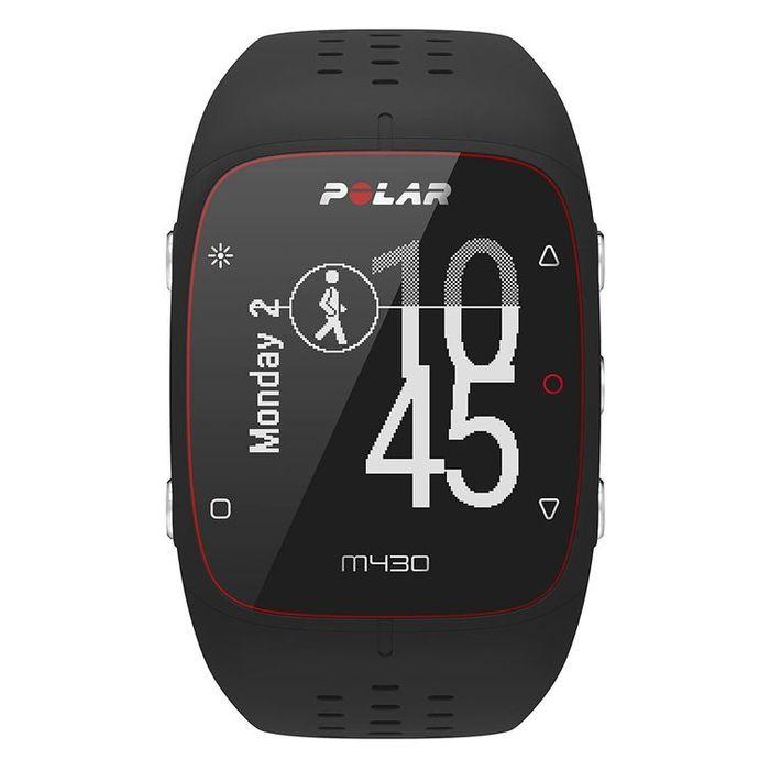 スマートウォッチ GPSランニングウォッチ 手首型6LED 光学式心拍計 M/Lサイズ ブラック POLAR (ポラール) M430/ブラック