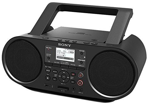 新品 ソニー SONY CDラジオ Bluetooth/FM/AM/ワイドFM対応 語学学習用機能 電池駆動可能 ブラック ZS-RS81BT
