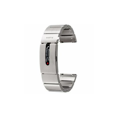 ソニー ハイブリッドスマートウォッチ wena wrist pro Silver (ウェナリスト プロ シルバー) WB-11AS