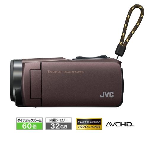 新品 JVCケンウッド ビデオカメラ Everio 耐衝撃 耐低温 32GB ブラウン GZ-F270-T