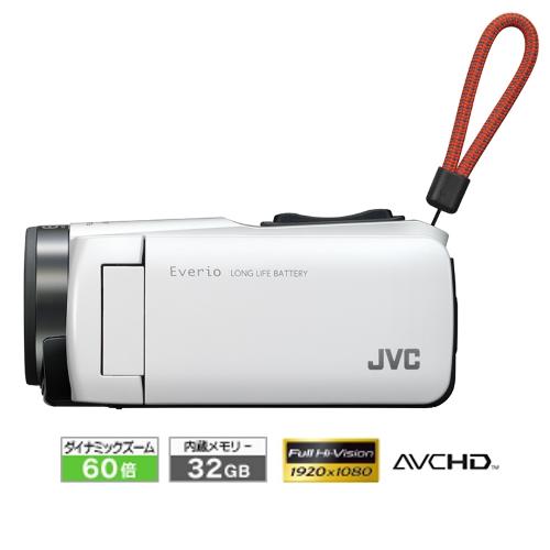 新品 JVCケンウッド ビデオカメラ Everio 耐衝撃 耐低温 32GB ホワイト GZ-F270-W