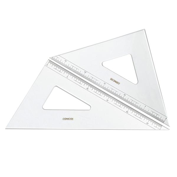 メール便配送可能 45度 60度の三角定規セット コンサイス 三角定規 新作 価格 人気 セット 30cm 目盛り付 60度 3mm厚 330TM 文房具 事務用品 製図 ものさし