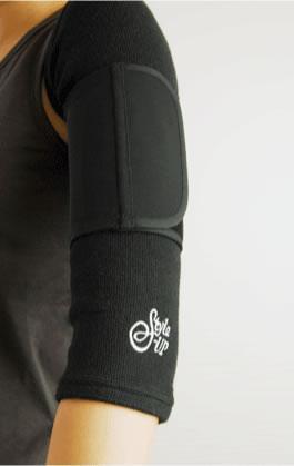 StyleーUP スタイルアップ 二の腕ショートツインサポーター (ブラック/フリーサイズ) エルローズ補正下着