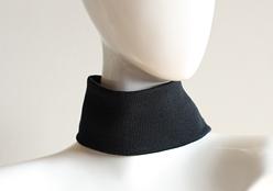 ポアンジュ ネック&ターバンサポーター/フリーサイズ(ブラック) 首筋 筋肉 歪み フェイスライン 遠赤 パワーストーン 天然鉱石 サポーター