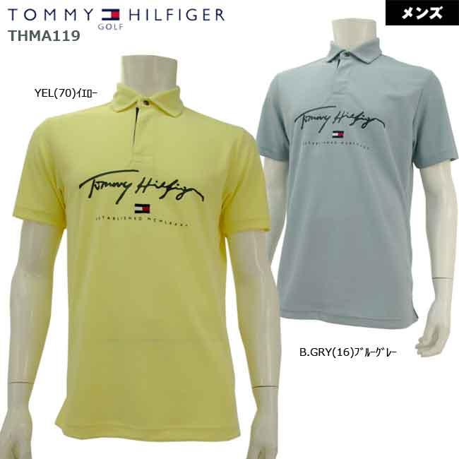 バーゲン 30%OFF 2021年春夏新作モデル TOMMY HILFIGER GOLF トミーヒルフィガーゴルフ THMA119 全店販売中 アウトレットセール 特集 B-ONE シグネチャーフラッグポロ メンズ半袖ポロシャツ 大特価 お買い得 メンズ