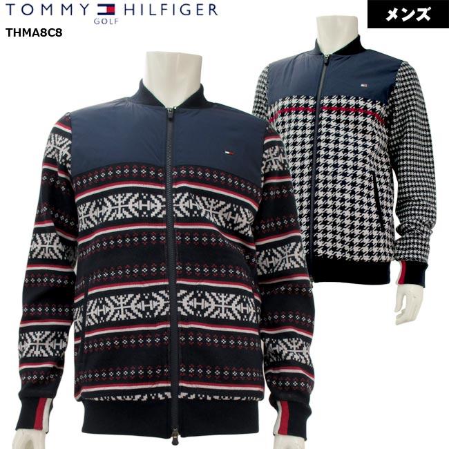 【2018年秋冬モデル】 TOMMY HILFIGER GOLF トミーヒルフィガーゴルフ KNIT PADDED JACKET ニット切替ブルゾン (メンズ) THMA8C8 【大特価!お買い得!!】 【B-ONE】