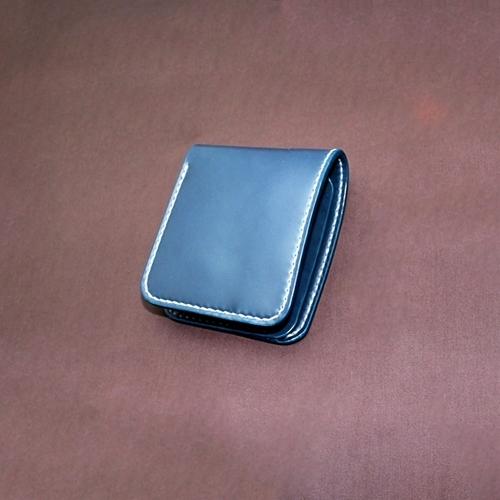 コードバン バタフライウォレット Aタイプ 本藍染め 【財布/長財布/ウォレット/ロングウォレット/革/レザー/コードバン/手縫い】