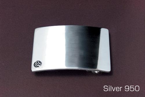 シルバーバックル 単品プレーンタイプ 40mm巾シルバー/シルバー950/バックル