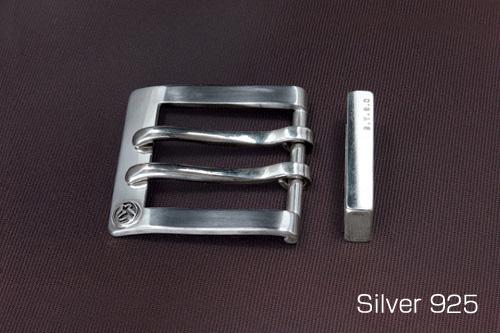 シルバーバックル 単品ダブルタイプ 40mm巾シルバー/シルバー925/バックル