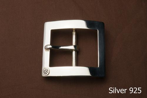 シルバーバックル 単品シングルタイプ 40mm巾シルバー/シルバー925/バックル