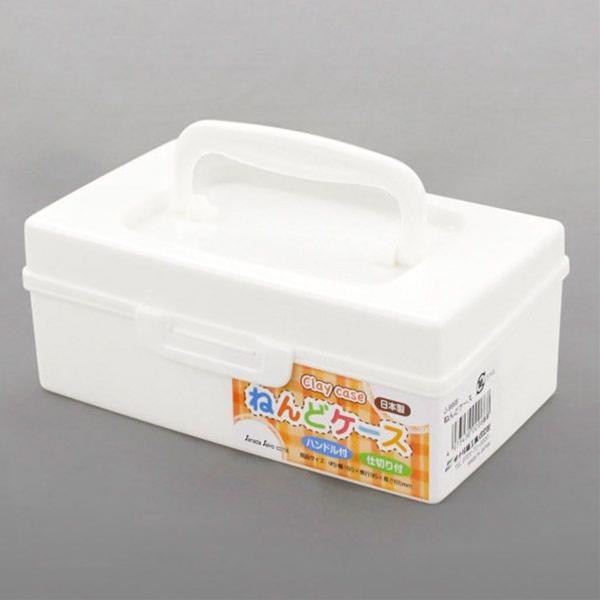 乾燥しやすい粘土を守ります 持ち運びやすいハンドル付き アウトレットセール 特集 ねんどケース 上質 16×9.5×高さ6.5cm ホワイト