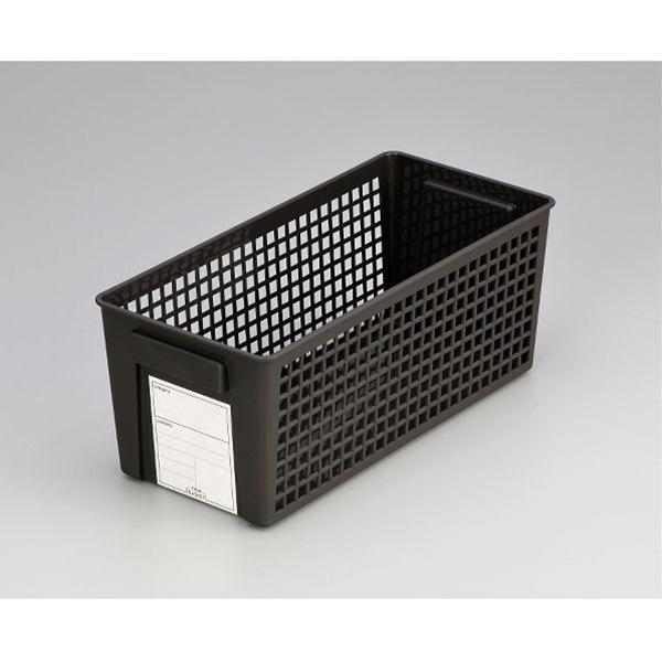 収納して整理整頓 バスケット 送料無料お手入れ要らず マーケット スリム ブラック 13×28.7×高さ11.5cm