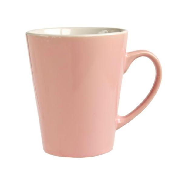 買い取り パステルカラーのかわいいマグカップです マグカップ 280ml ピンク 即出荷
