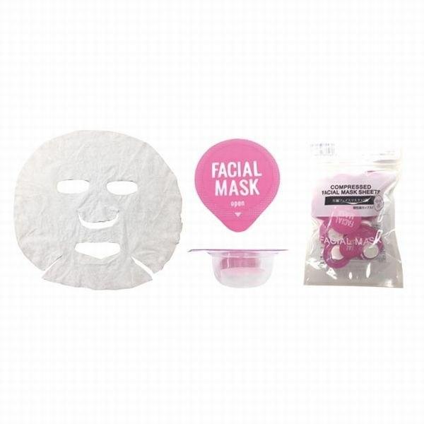 圧縮フェイスマスク 個包装カップ入り 12個入