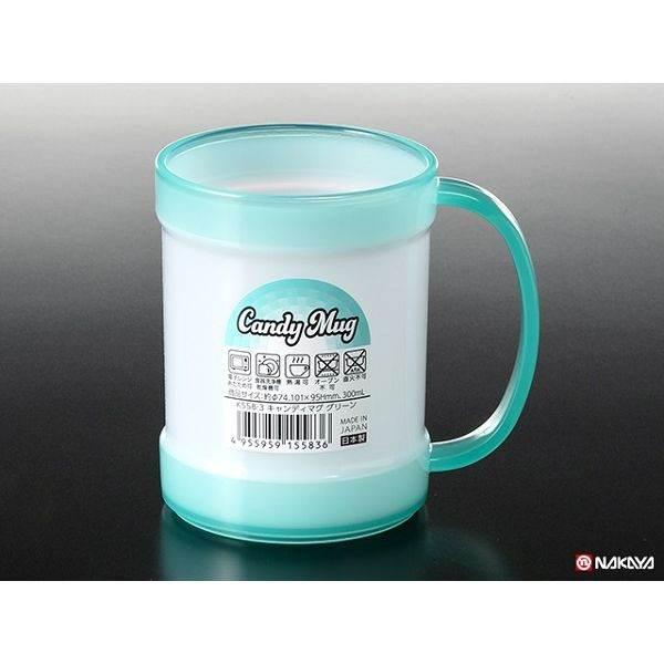 電子レンジ 食器洗浄乾燥機OK マグカップ プラスチック製 満量300ml 新着 一部予約 グリーン