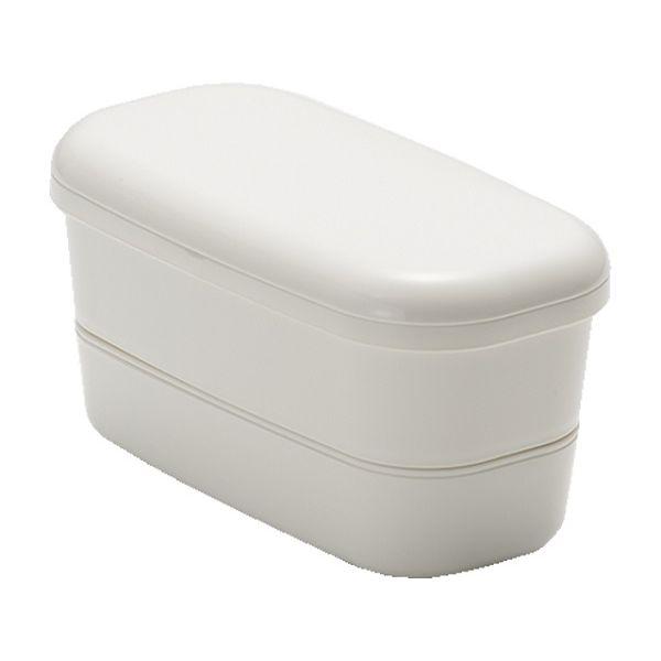 コンパクト収納が可能な2段ランチボックス ランチボックス 初売り 2段 上320ml B スーパーセール ホワイト G 下180ml