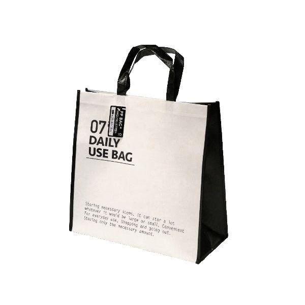 トラスト 丈夫で使いやすい 商い PPバッグ 英字柄 38×40×マチ18cm 色指定不可