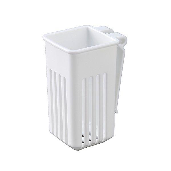 水切りカゴに取り付けられる 店内全品対象 水切りケース キッチンツール用 値引き ホワイト 4.9×6.2×高さ9.5cm