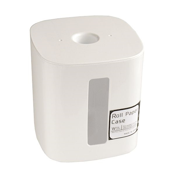 特価品コーナー☆ 必要な分だけ使えて経済的 ロールペーパーケース 売却 12.5×12.5×高さ13cm ホワイト