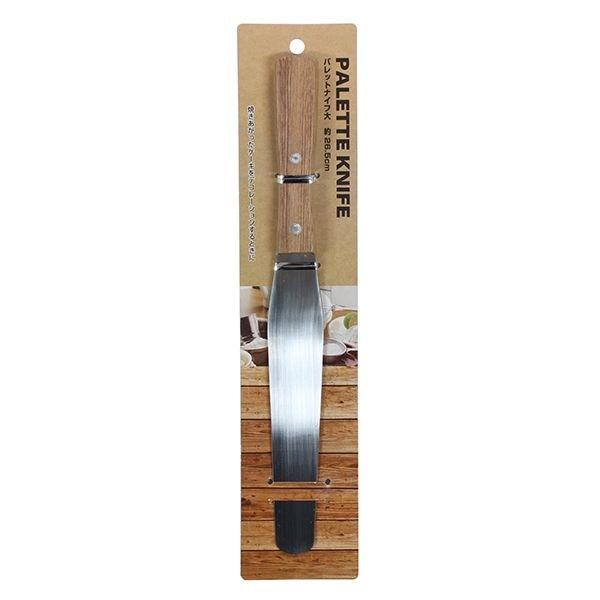 ケーキをデコレーションするときに パレットナイフ 木柄 マート 贈呈 全長26.5cm 大サイズ