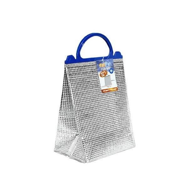 お買い物や レジャーに 保温 保冷バッグ 新作 大人気 アルミ 中古 21×13×高さ26cm 中