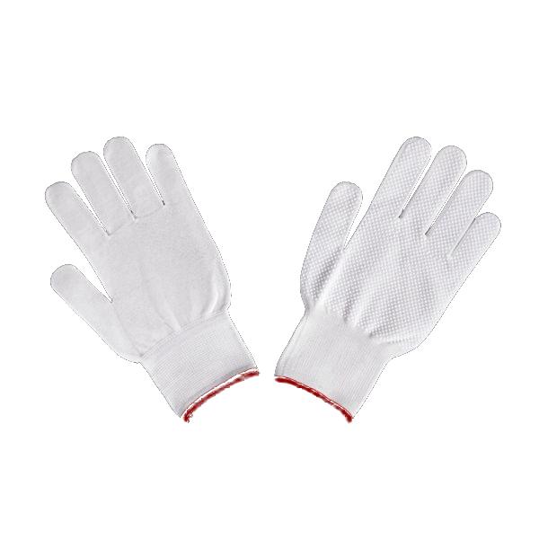 ご予約品 つつみこむようなフィット感 爆売り 手袋 すべり止め付 ホワイト Mサイズ 伸縮タイプ