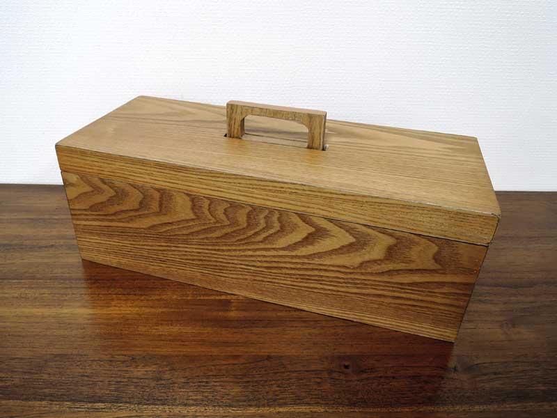 ツールボックス 木製 工具箱 小物入れ ソーイングボックス 裁縫箱 かわいい おしゃれ 大人 アンティーク風 ナチュラル 北欧 アジアン雑貨