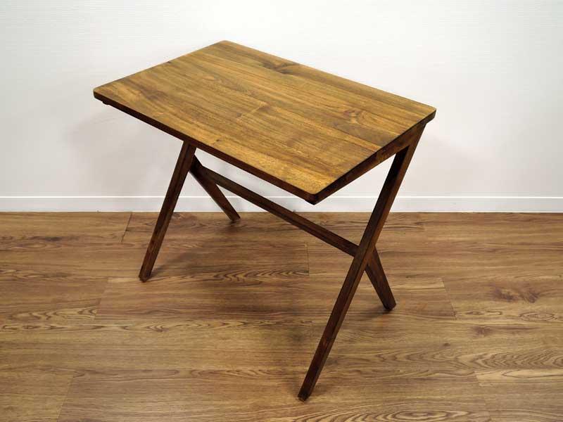 イージーライト テーブル サイドテーブル カフェテーブル コーヒーテーブル チーク 無垢 天然木 ベッドサイドテーブル ソファテーブル 持ち運び アンティーク調 木製 おしゃれ 北欧