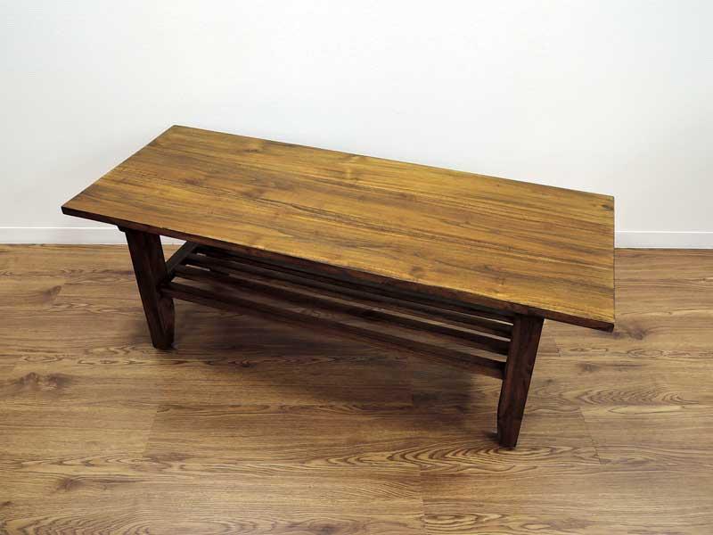 ナロー ローテーブル コーヒーテーブル ソファテーブル チーク 無垢 アジアン 北欧 アンティーク調 木製 テレビボード コンソール デスク 天然木 おしゃれ アジアン家具