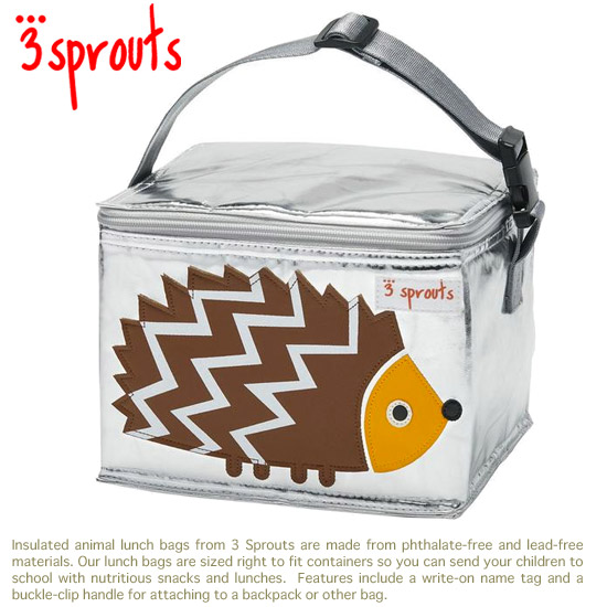 3 Sprouts Cold Storage Lunch Bags Hedgehog