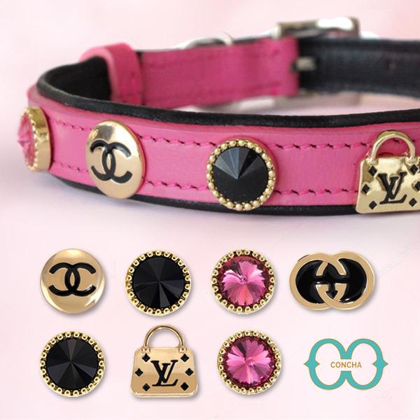 コンチャカラー Concha Collar 首輪 高級 ギフト プレゼント ペット用首輪 40%OFFの激安セール デザイナーコレクション 通信販売 犬 誕生日 猫 ピンク