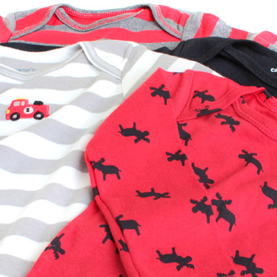 Class four pieces of reason ant special price Carter's long sleeves body suits set (Daddy's Big Guy 2013 rompers body suit) size: 9M