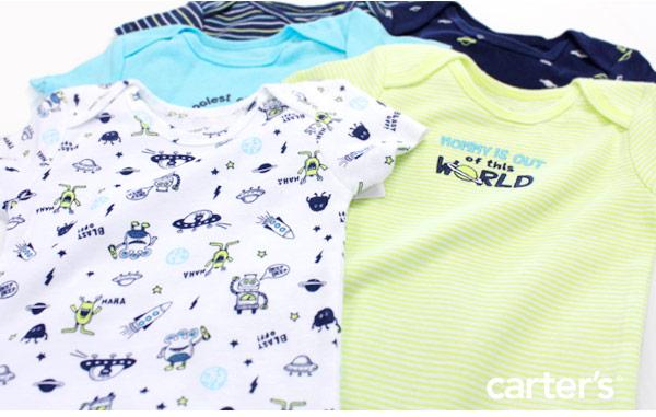 Carter's genuine 2013 winter latest work ★ peace of Carter's short sleeve 5 piece set Bodysuit ( Big Guy Little rompers )