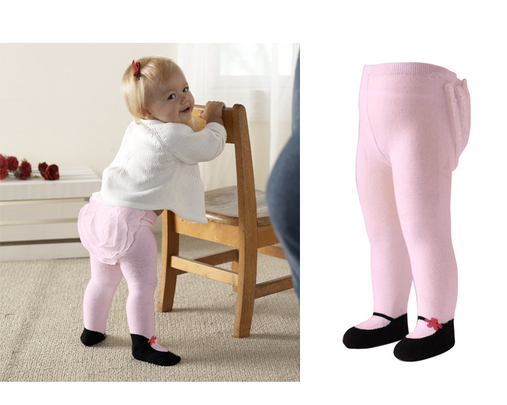 Jazzy Toes 期間限定お試し価格 割引 ジャージートー ベビー 赤ちゃん タイツ 1204P20 フリル ピンク メリージェーンタイツ たっぷりフリル付き