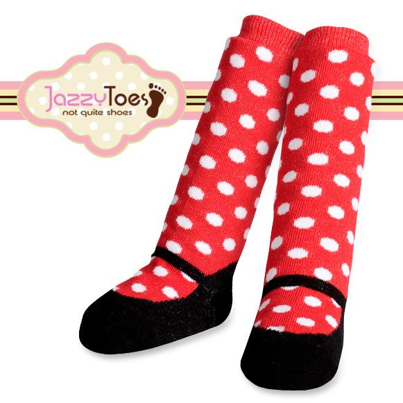 出産祝い ベビー ソックス 赤ちゃん 靴下 Jazzy Toes 新作 お洒落のコーデにオススメ 高級な bodyrec ジャージートー メリージェーンドット ニーハイ キュートな赤ちゃん用ニーハイソックス