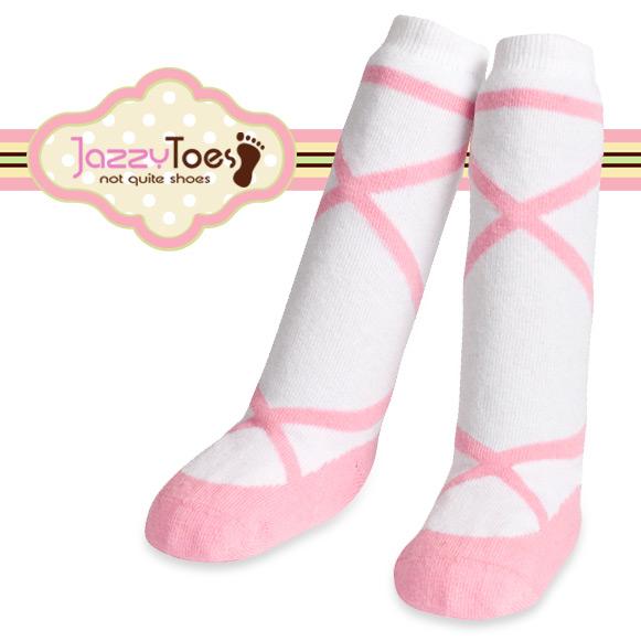 出産祝い ベビー ソックス 赤ちゃん 靴下 Jazzy Toes ジャージートー ニーハイ ジャージートー【Jazzy Toes】お洒落のコーデにオススメ♪キュートな赤ちゃん用ニーハイソックス(バレリーナ)bodyrec